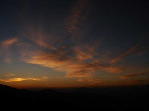 A sunset view from Barobag Hills