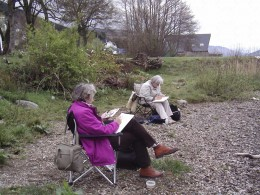 My class out and about! St. Fillans, Scotland. (See map below)
