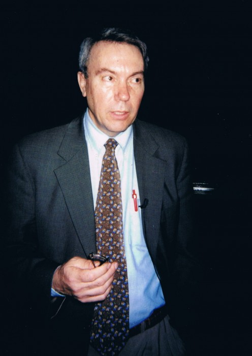 A photo of David Kaczynski after the discussion. This occasion was also captured for replay on C-SPAN, but I can't find it online.