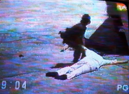 The body of Ninoy Aquino. Image Wikipedia.