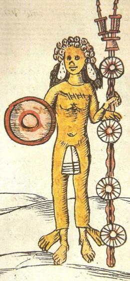 Aztec God Xipe Totec Wearing Human Skin