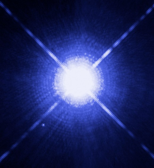 Sirius A, a White Dwarf star, which the 5th closest star to our planet.