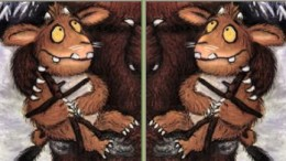 From front cover of 'The Gruffalo's Child'.