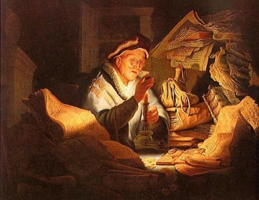 Moneychanger, by Rembrandt