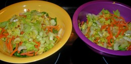 Step 8 - Divide up the Celery Slices and Celery Leaves