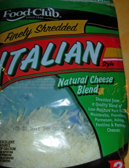 Step 15 - Get out Italian Cheese (Mozzarella, Provolone, Parmesan, Asiago, Fontina, & Romano)