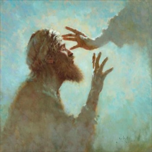 Jesus Healing a Blind Man. William Barclay saw the nature of God revealed in the love and kindness of Jesus.