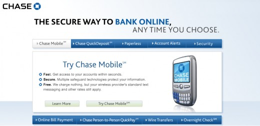 Chase Mobile feature