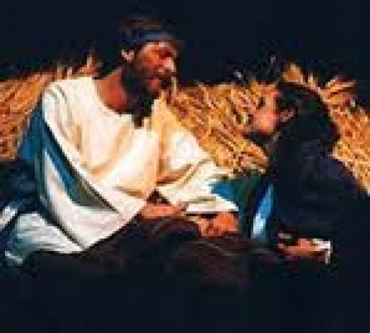 Ruth and Boaz in love