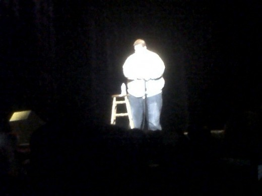 Emily, Casey, Chris, and I went to see the Ralphie May show tonight at the Tennessee Theater.  The superior quality of the Blackberry camera really gleams with a picture like this.
