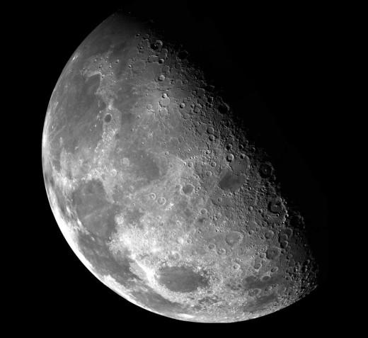 Moon taken by Galileo spacecraft.