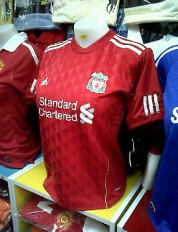 Liverpool Home Shirt 2010-2011 For Ladies