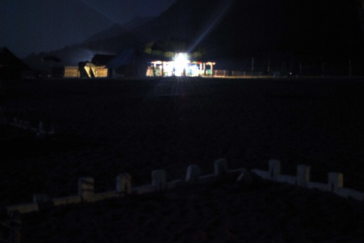 Night View of The Camp