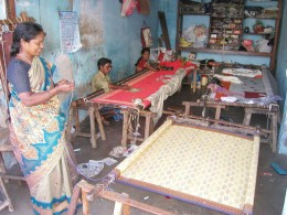 [The making of handicrafts and handlooms forms the core of the cottage industries. Indian cottage industry plays an important role as far as employment in India is concerned].