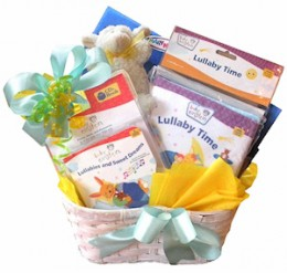 Baby Book Gift Basket Image Courtesy of All About Gifts & Baskets
