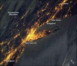 Earth Hour City Lights from Space