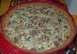 Step 50 - Finished Vegetable Quiche with whole wheat crust