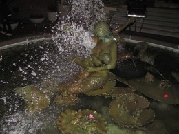 Ghiriadelli Square fountain - Momma Mermaid with Mer-baby.
