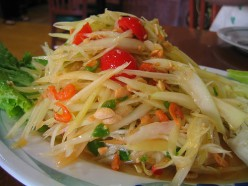 Thai Food Recipe - How To Make Som Tam, Green Papaya Salad