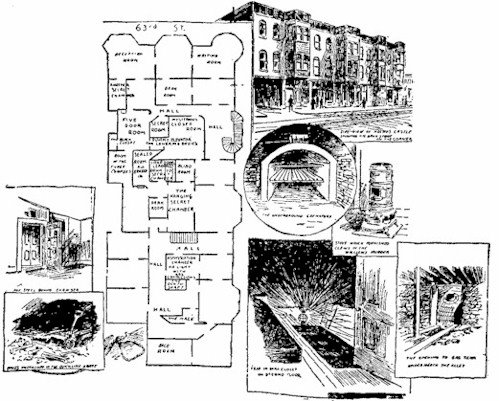 Diagram of HH Holmes Mansion in Chicago