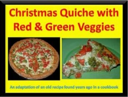 Christmas Quiche with Red and Green Vegetables