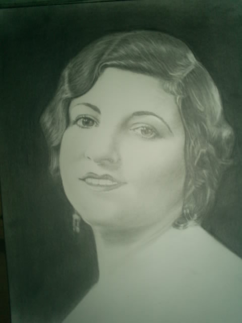 a Protrait of his Great Gandmother, my Grandmother on my Fathers Side