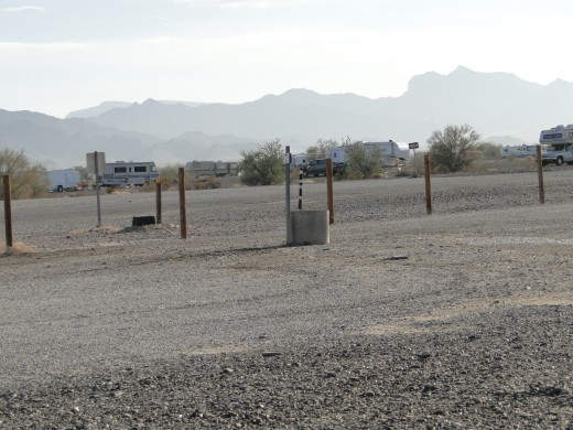 One of the places to get water.  There are only two dump stations and four watering stations.