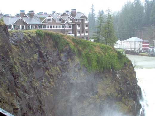 Salish Lodge at the falls.