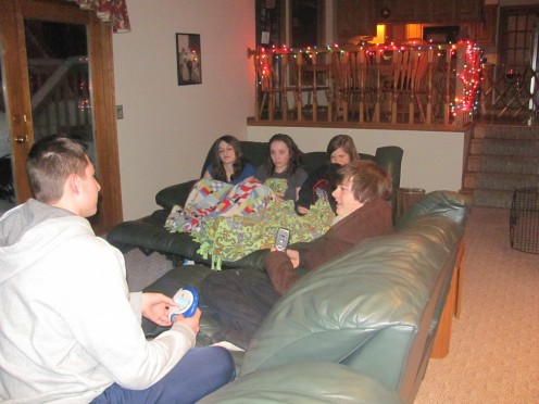 Playing catch phrase at the slumber party