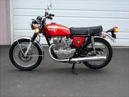 "74 Honda ""double knocker"" twin overhead camshaft 450cc"