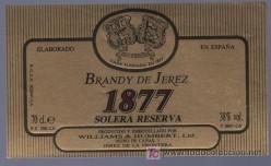 Brandy de Jerez 1877 Solera reserva label