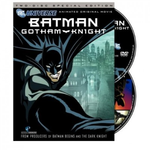Batman Gotham Knight is available as a single disc and a two disc collectors edition.  It is also available on Blu-Ray disc.