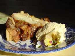 Bread and butter pudding is delicious hot or cold