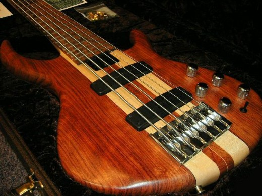 Found this rather stunning bass,which looks like its a electric solid body guitar.Nice.