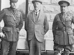 From left: Earl Haig, Smuts, General Sir Henry Timson Lukin during World War I. Photo Smuts House Museum