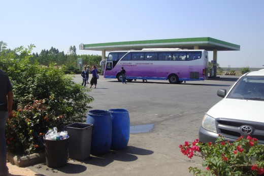 The 36 passenger bus was full and clean all three times I renewed my visa.