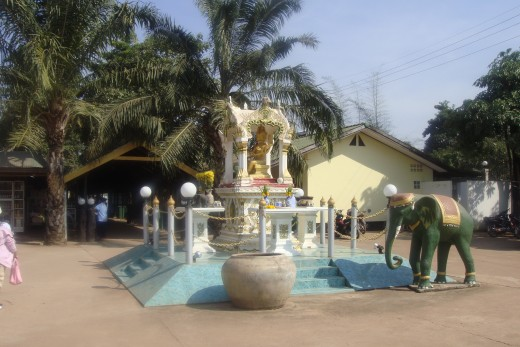 This was a shrine in the nearby area we walked to.