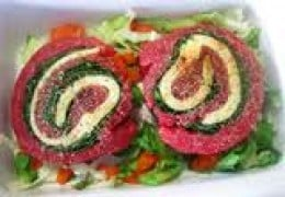 Beef roll ups. You can use any combination of meat, cream cheese and veggies you want.