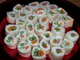 Ham roll ups,  everyone loves these, even when they are not on a diet.