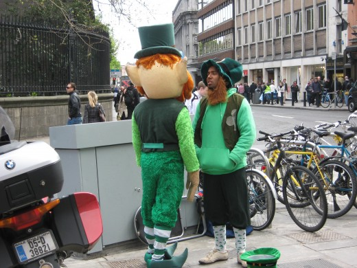 A modern depiction of Leprechauns in Dublin.