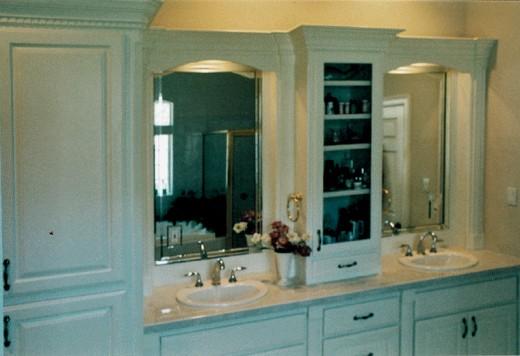 Raise Wood Bathroom Cabinets in Blue