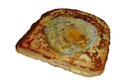 Eggs in a basket, one of their favorite things to make.