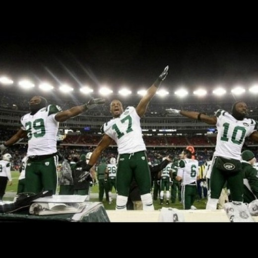 New York Jets Flight Boys - Holmes, Keller, Edwards and Cotchery