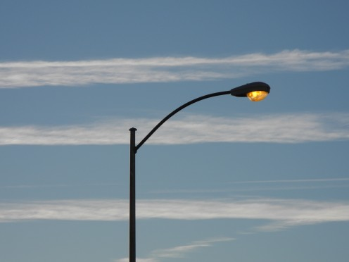 """(Example B) Same lamp post zooming in where you can see the """"spread"""" of these."""