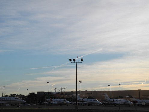 """Chemtrail Sky.  Las Vegas Jan. 19th, 2011 Yes, these """"look"""" like Clouds... But they are much more dense than clouds."""