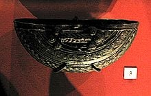 A bronze ceremonial vessel of 9th century