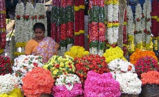 Malleswaram Flower seller