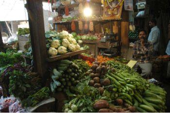 Vegetable shop at Russel Market