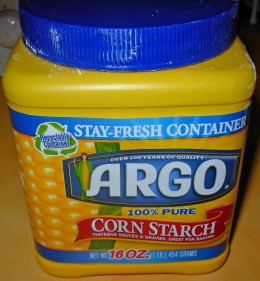 Ingredients - You need Corn Starch