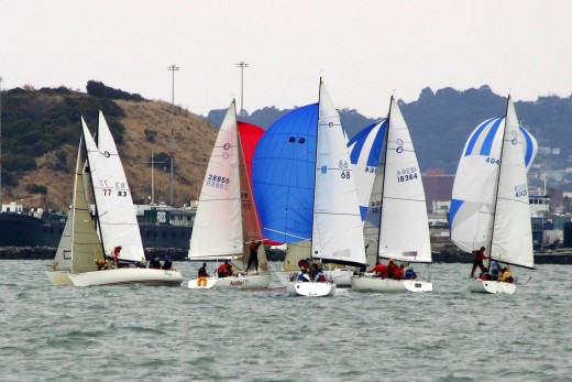 Action at the leeward mark